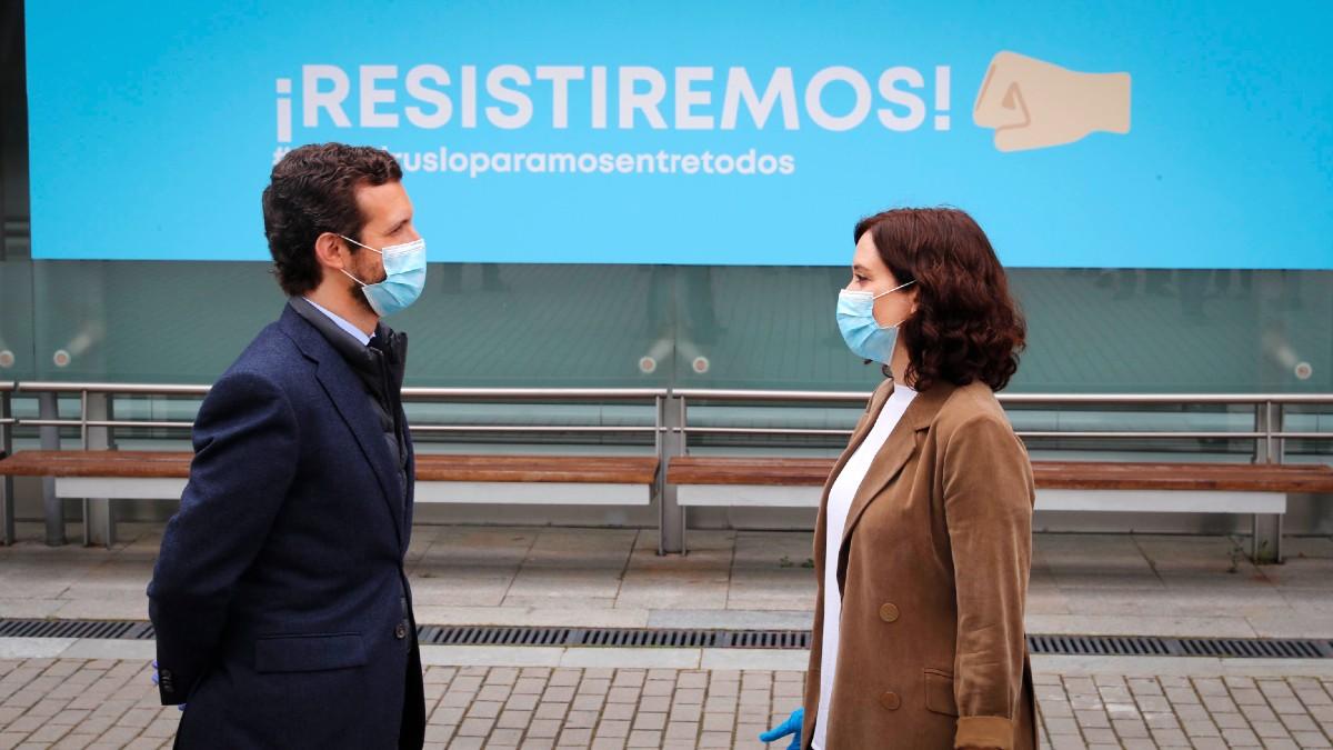 Pablo Casado e Isabel Díaz Ayuso. (Foto: Europa Press)
