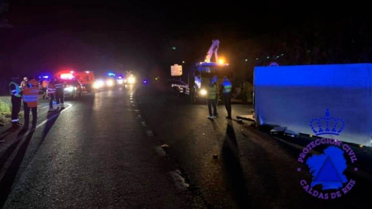 Imagen del accidente en Pontevedra