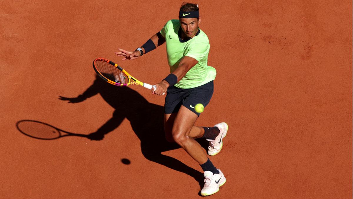 Rafa Nadal durante un partido en Roland Garros
