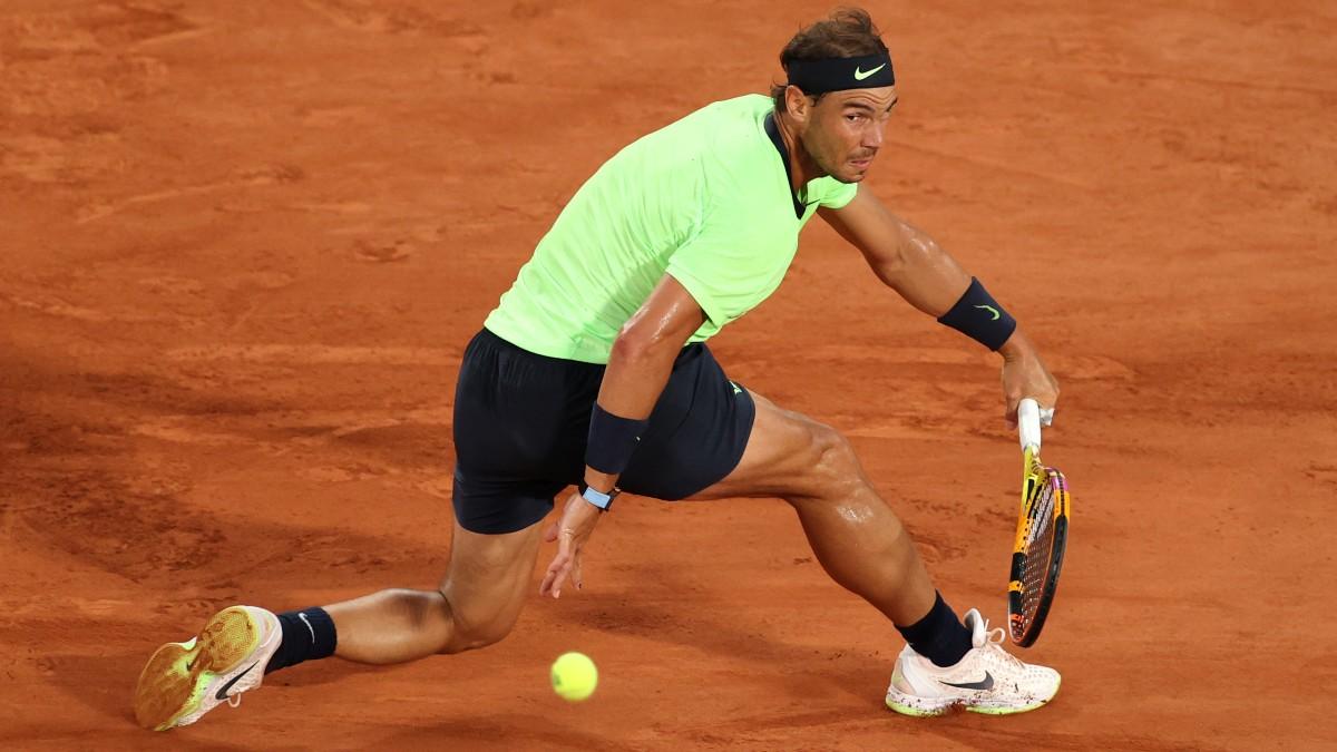 Nadal, en un partido de Roland Garros. (Getty)