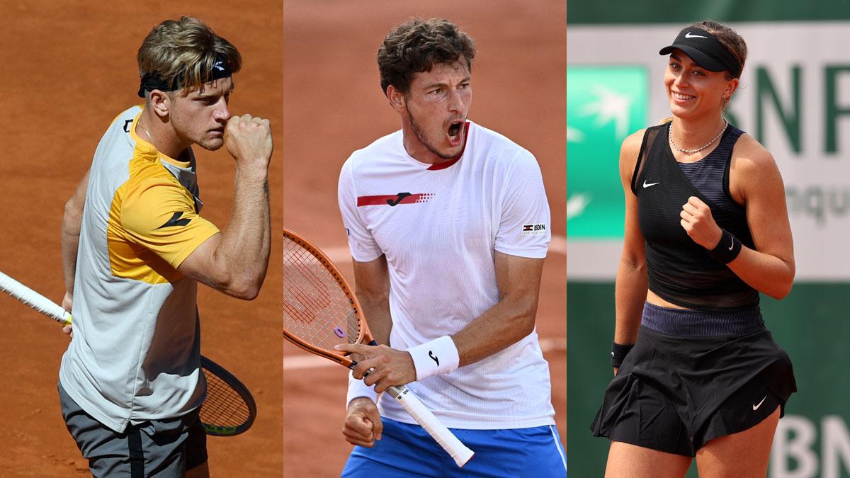 Alejandro Davidovich, Carreño y Paula Badosa juegan este viernes en Roland Garros (AFP/Getty)