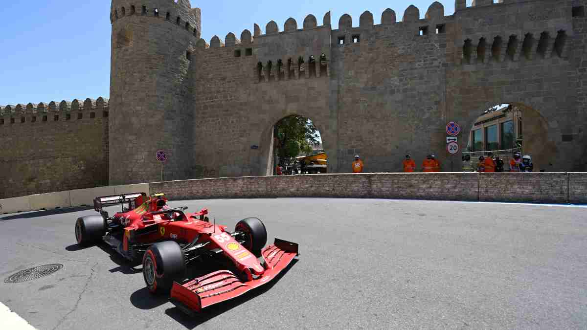 Carlos Sainz en Bakú. (AFP)