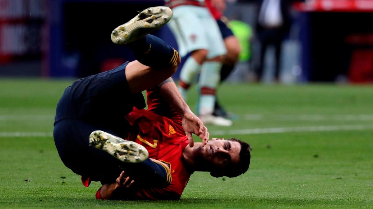 Álvaro Morata, en el partido contra Portugal. (EFE)