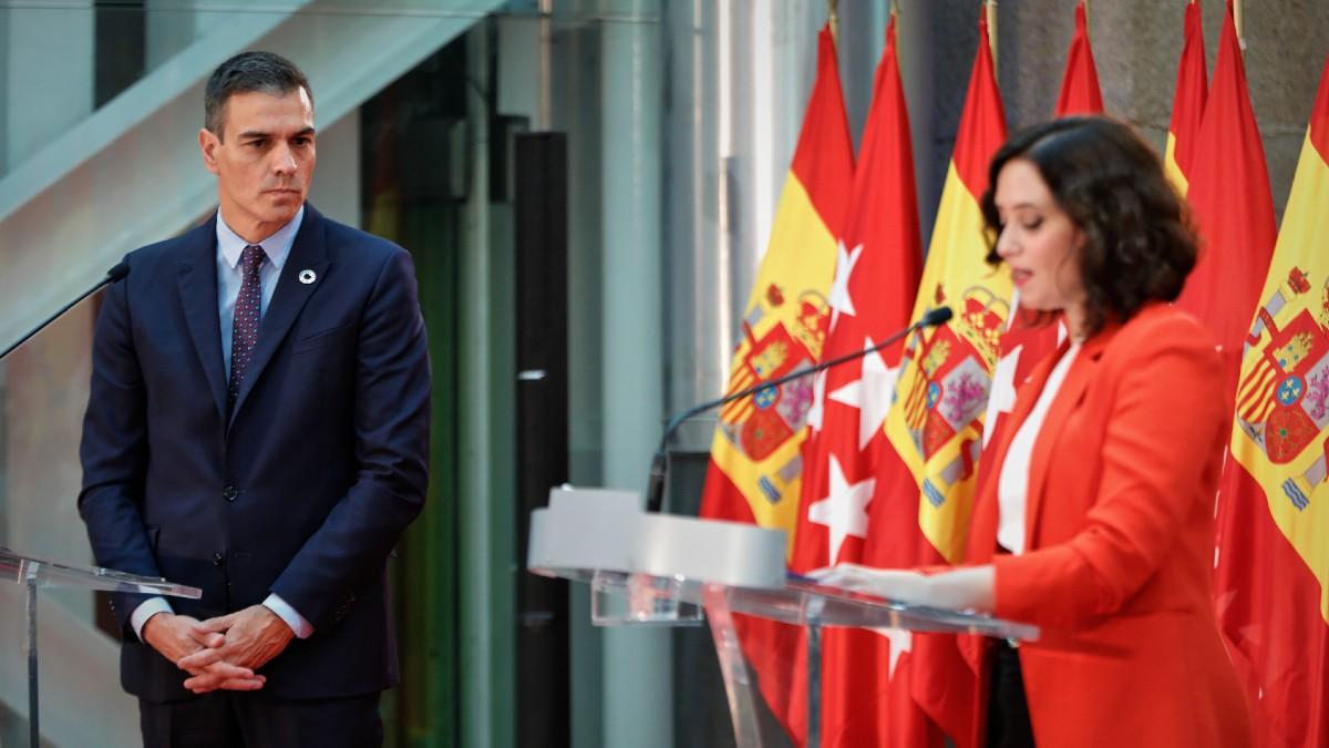 Pedro Sánchez e Isabel Díaz Ayuso. (Foto: Europa Press)