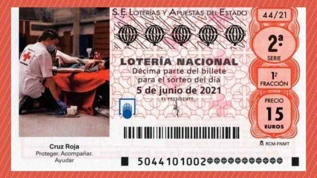 Sorteo Extraordinario de Lotería Nacional de la Cruz Roja 2021
