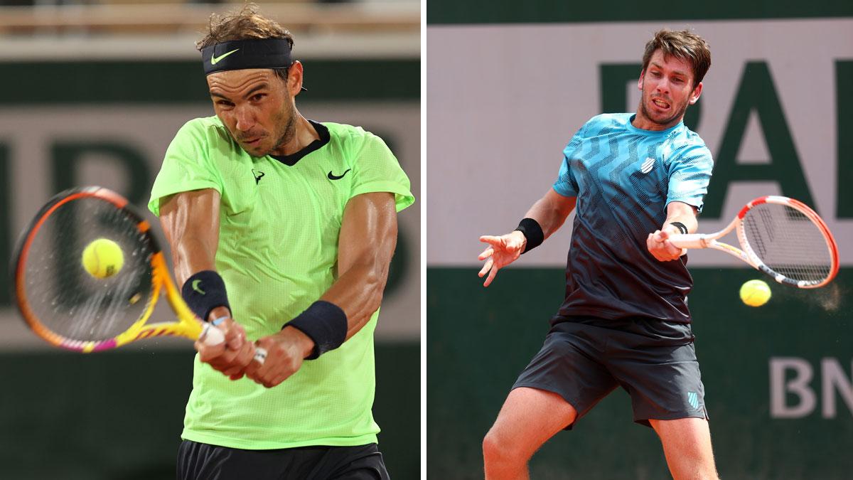Rafa Nadal y Cameron Norrie disputan este sábado 5 de junio la tercera ronda de Roland Garros (Getty)