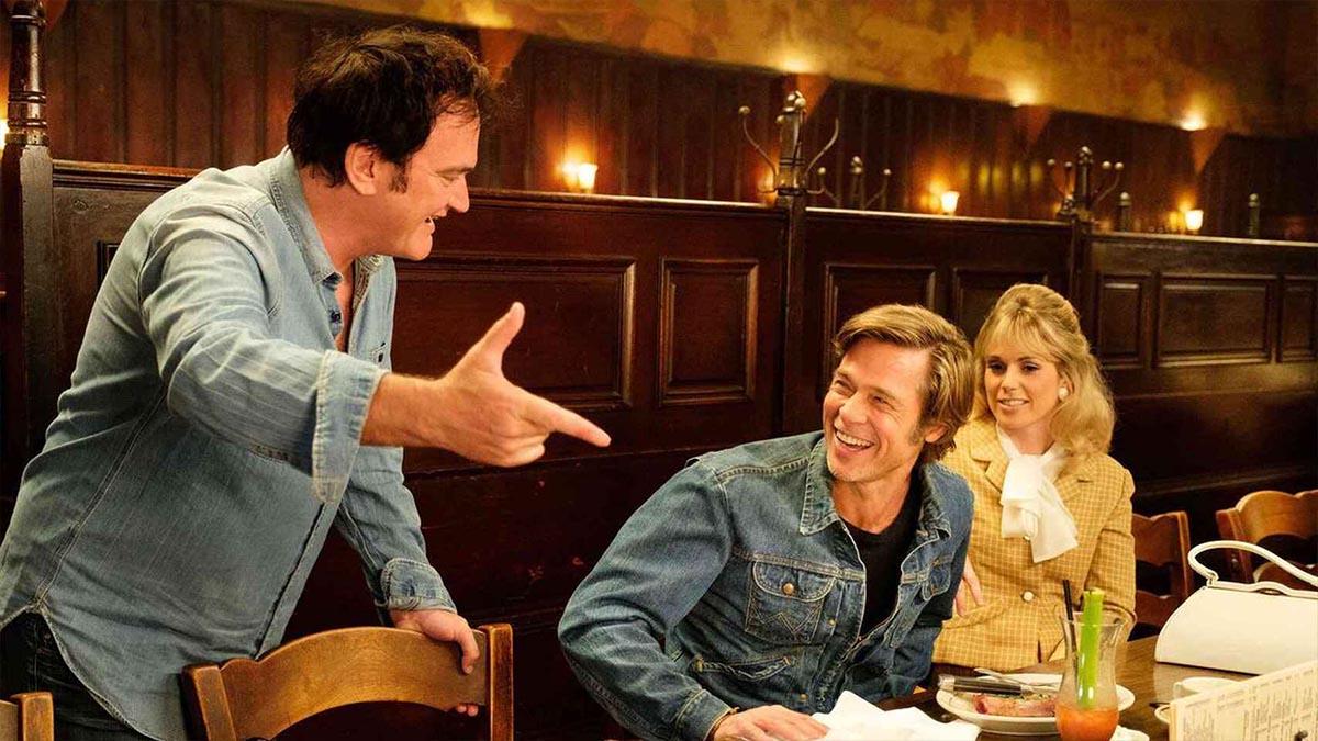Quentin Tarantino dirigiendo «Érase una vez en América» (Columbia Pictures)