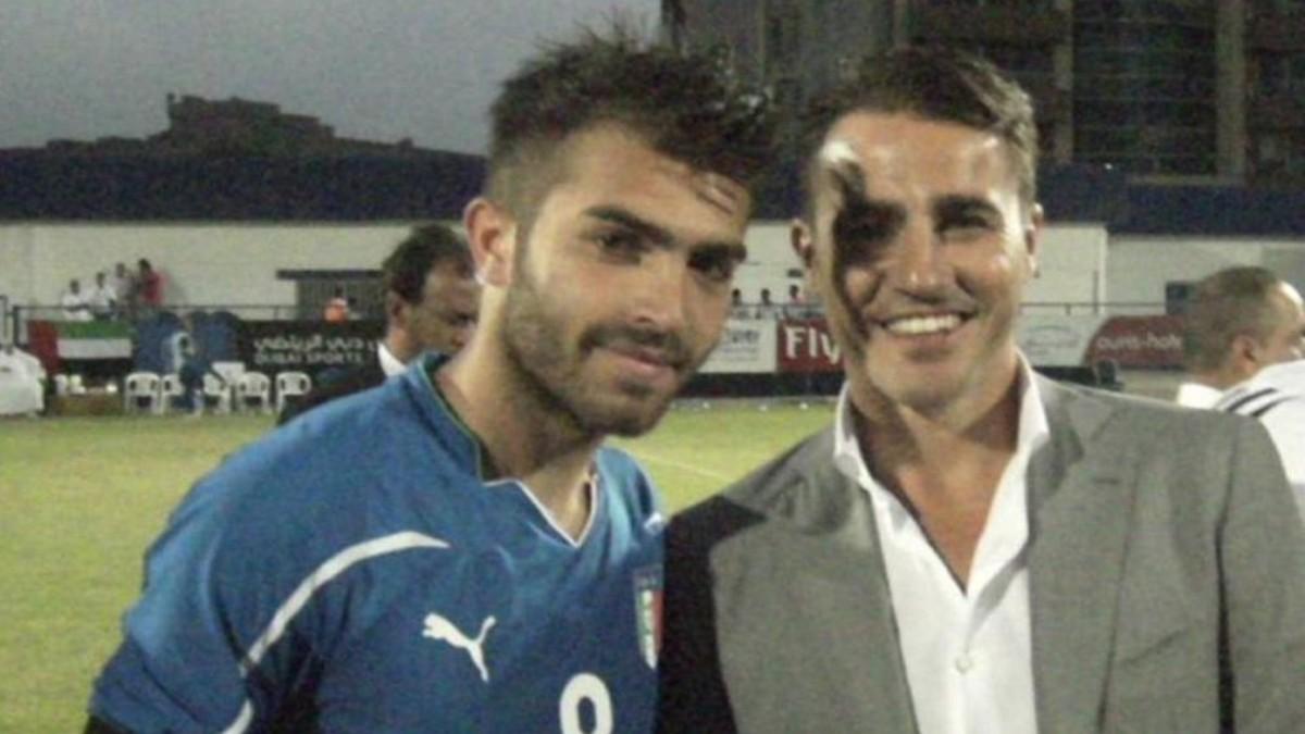 Giuseppe Perrino, junto a Fabio Cannavaro. (@giuseppe.perrino.5)