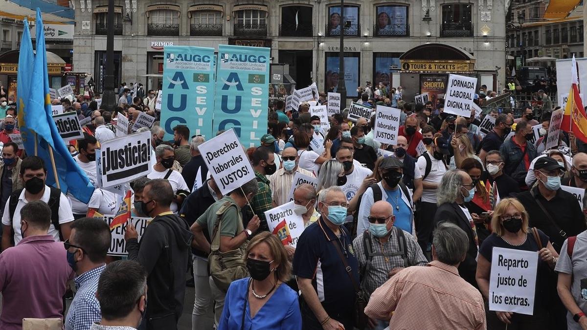 Manifestación en la Puerta del Sol.