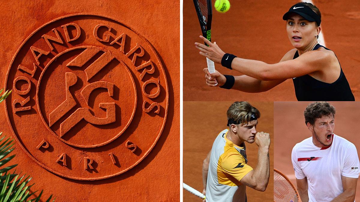 Carreño, Davidovich y Badosa juegan este domingo 7 en Roland Garros 2021 (AFP/Getty)