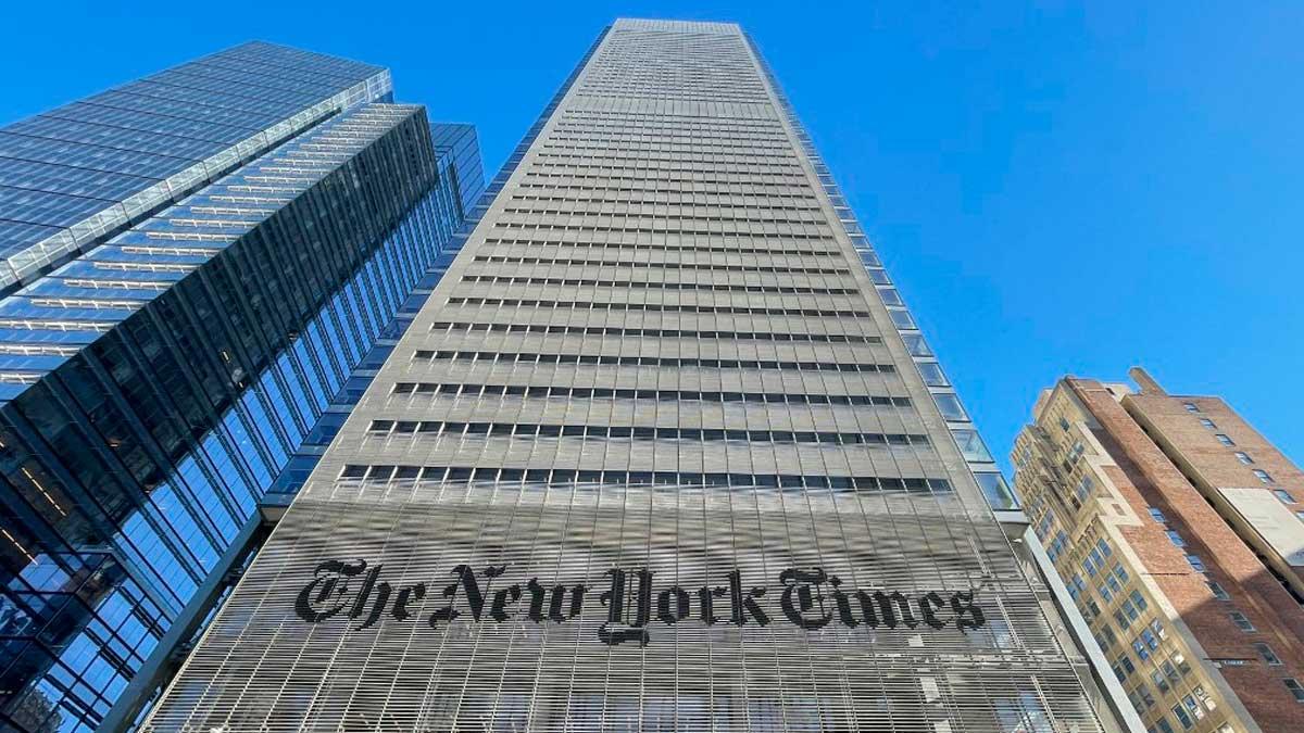 La sede del periódico neoyorquino 'The New York Times'. Foto: AFP