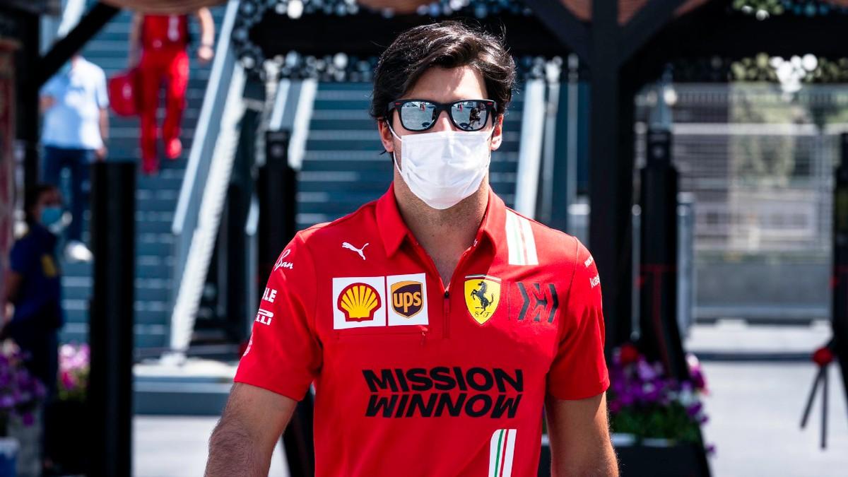 Carlos Sainz, en el Gran Premio de Azerbaiyán. (Getty)