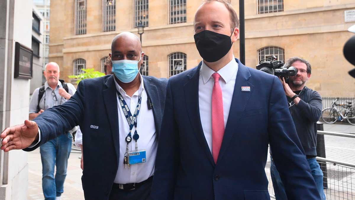 Matt hancock, ministro de Salud de Reino Unido. Foto: EP