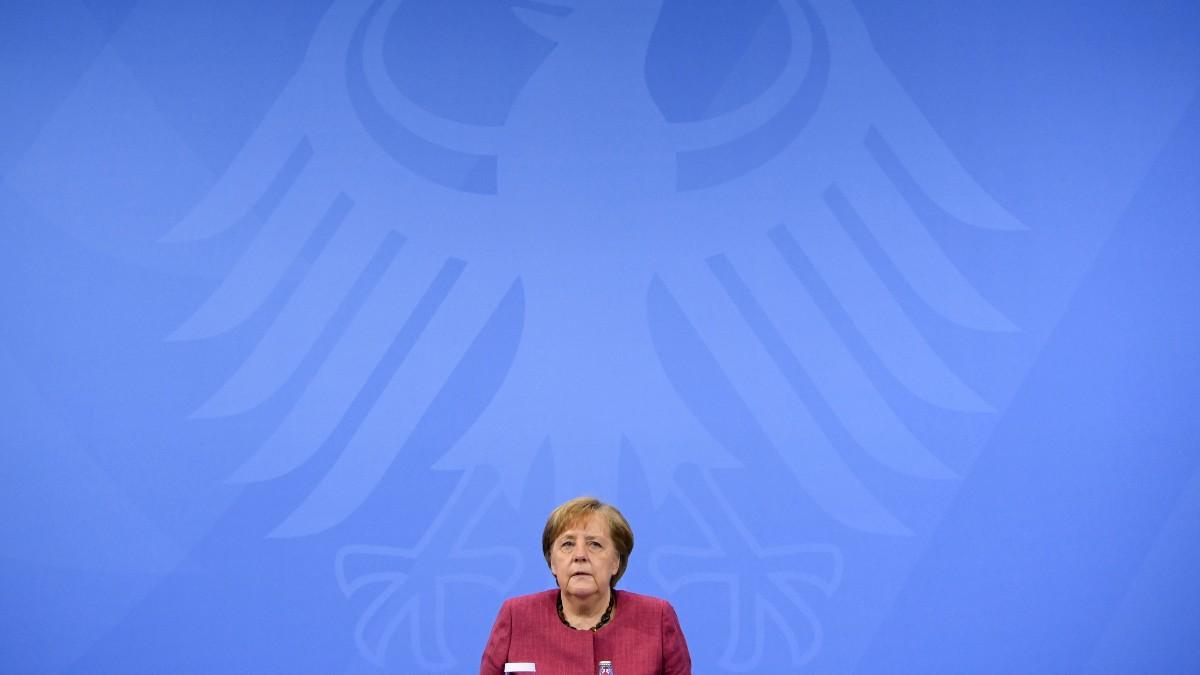 Angela Merkel en una conferencia.