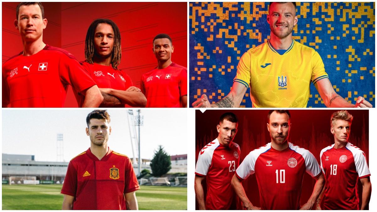 Algunas de las equipaciones de la Eurocopa 2020.