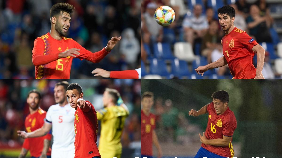 Brais, Carlos Soler, Rodrigo y Fornals.