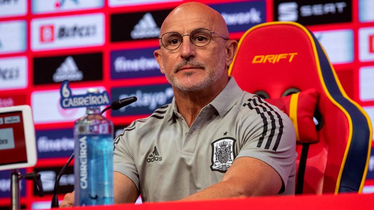 Luis de la Fuente, durante una rueda de prensa. (EFE)