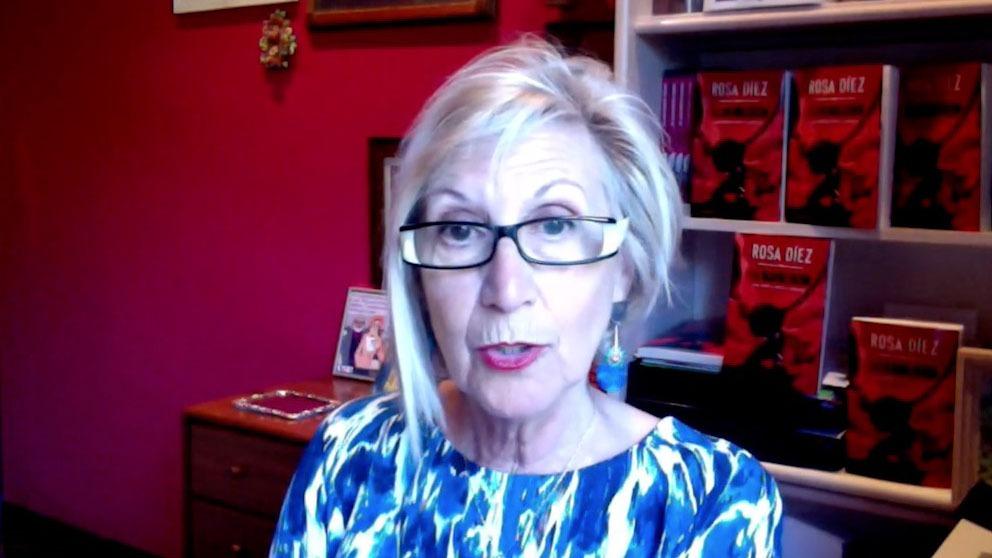 Rosa Díez, durante la entrevista.