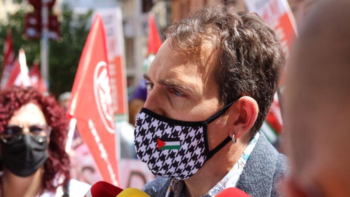 El coordinador general de IU en Andalucía y portavoz de Unidas Podemos por Andalucía, Toni Valero.