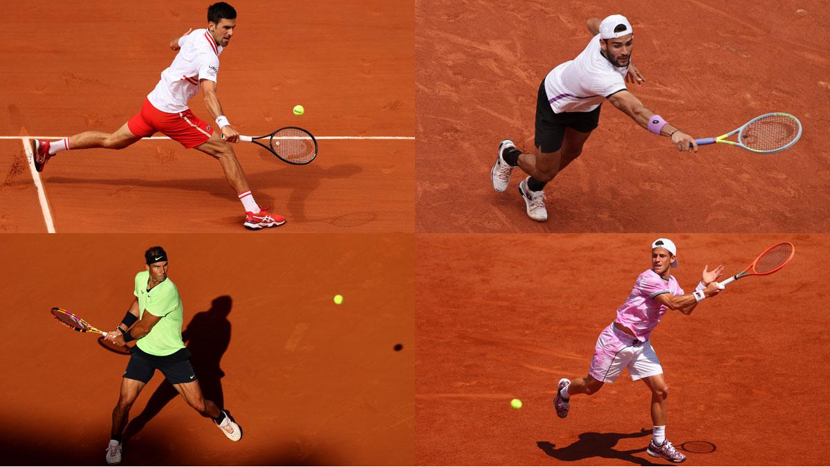 Djokovic vs Berrettini y Nadal vs Schwartzman son los partidos de este miércoles en Roland Garros (AFP)