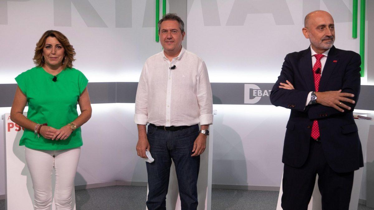 Debate entre los tres candidatos de las primarias del PSOE-A