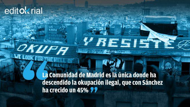 Madrid es el ejemplo de que la okupación va unida al socialcomunismo