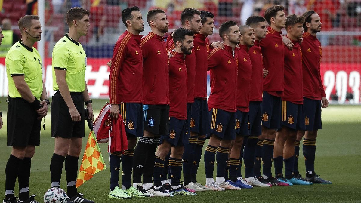 Los jugadores de la selección española de fútbol.