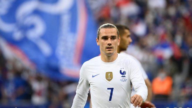 Antoine Griezmann durante un partido con Francia. (AFP)
