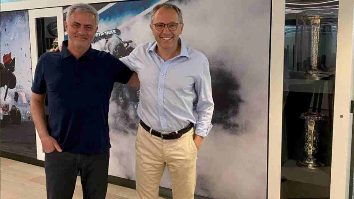 José Mourinho y Stefano Domenicali, CEO de la Fórmula 1. (@Josemourinho)