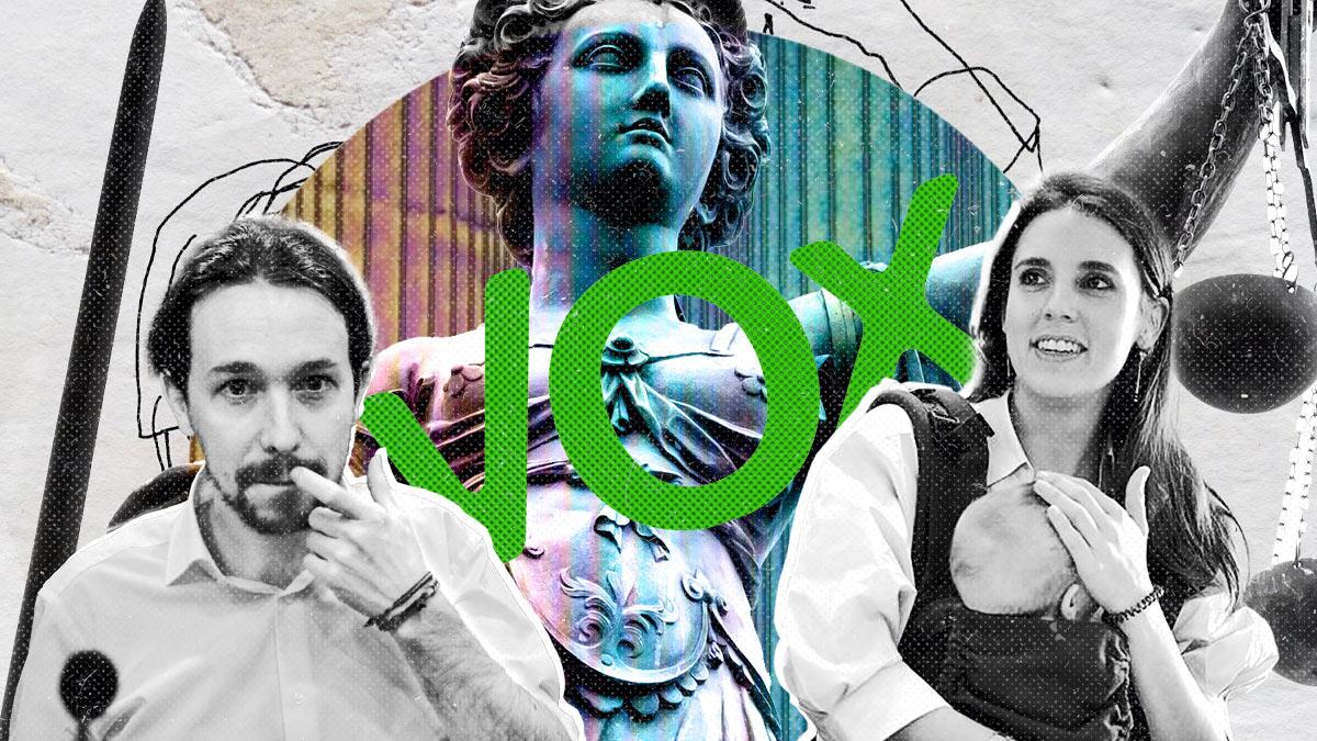 Fotomontaje con Irene Montero y Pablo Iglesias.