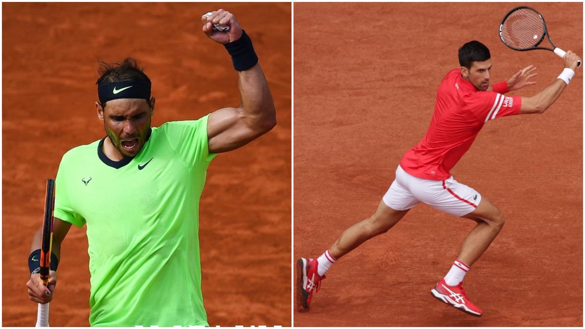 Rafa Nadal y Novak Djokovic en Roland Garros.