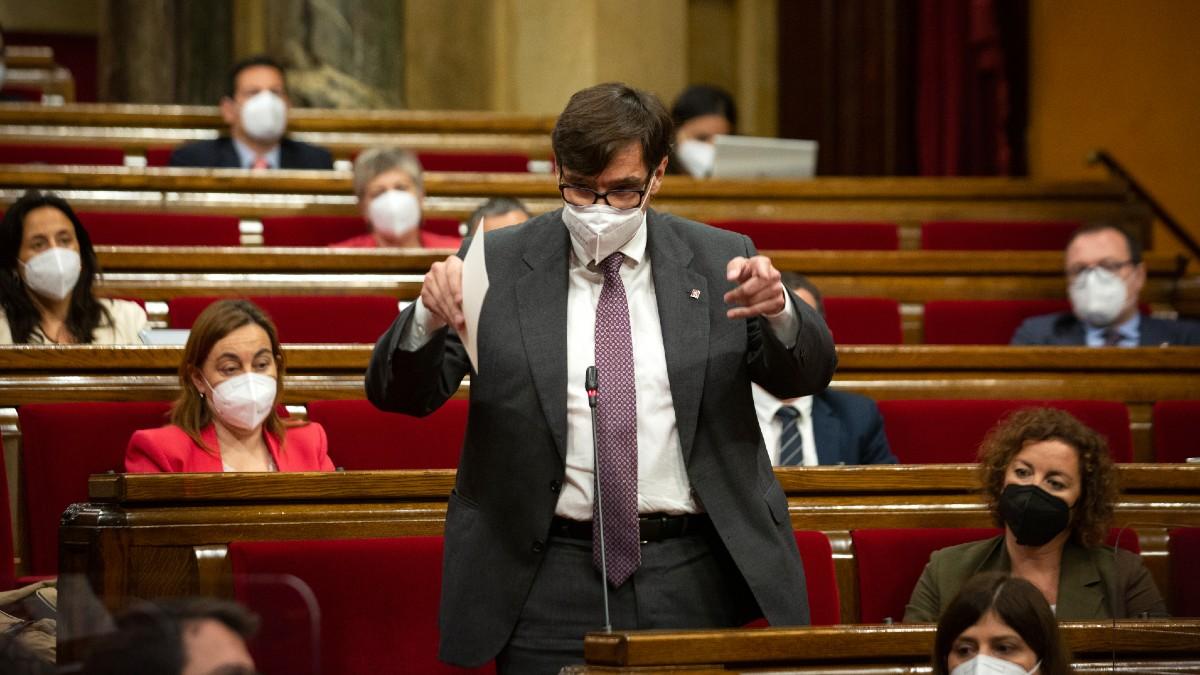 Salvador Illa en el Parlament de Cataluña.