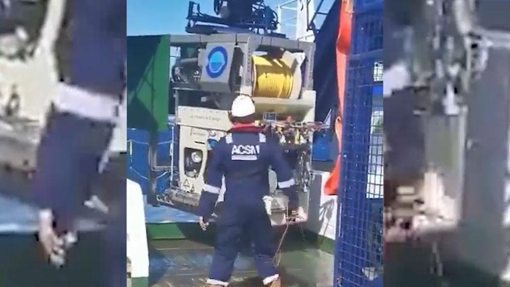 El robot submarino de rastreo del buque oceanográfico 'Ángeles Alvariño'.