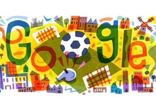 Google dedica su doodle a la Eurocopa 2020 ¿cómo es su portada?