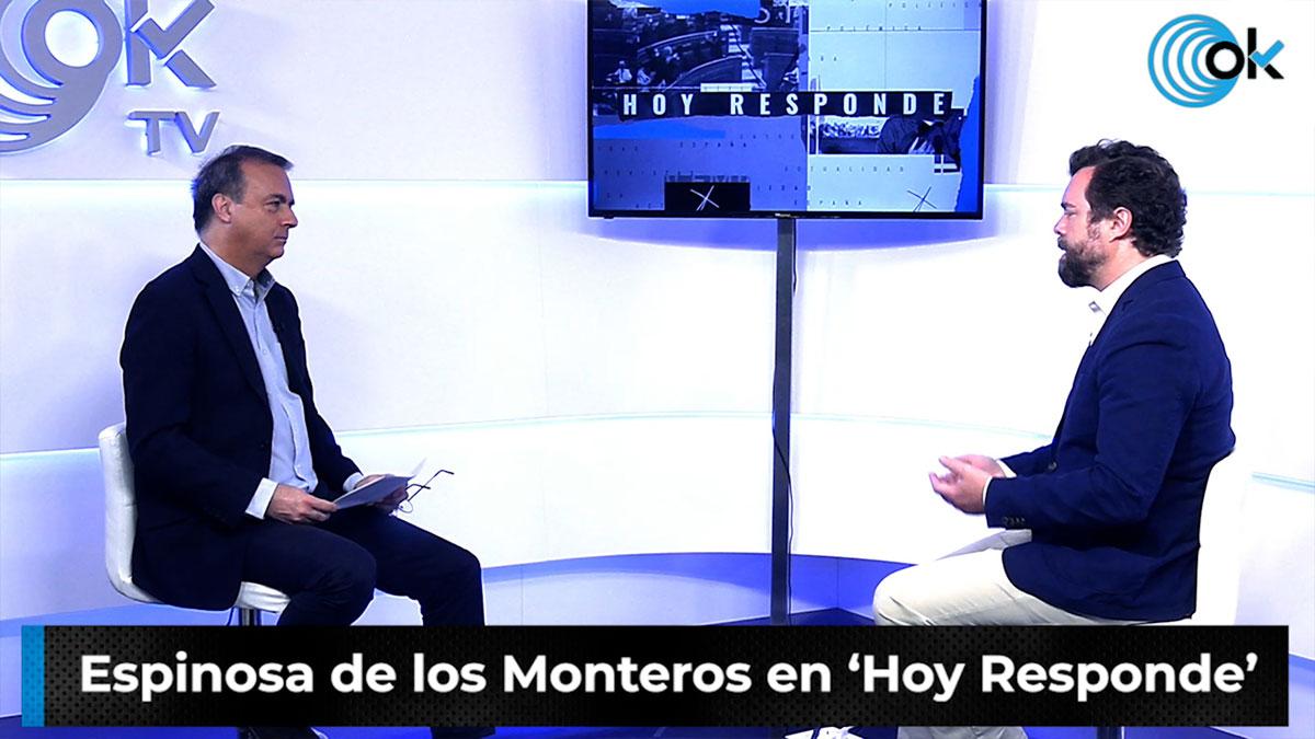 Espinosa de los Montero durante la entrevista en 'Hoy responde'.