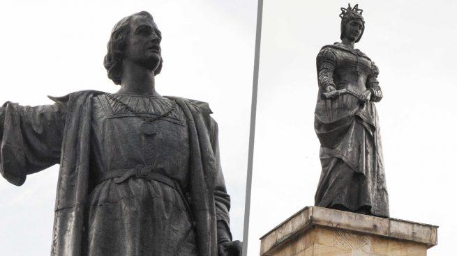 Colombia retira los monumentos a Colón e Isabel la Católica que los indígenas intentaron derribar