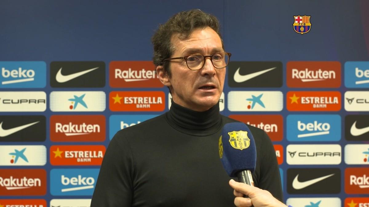 Guillermo Amor durante una entrevista con BarçaTV. (barçatv)