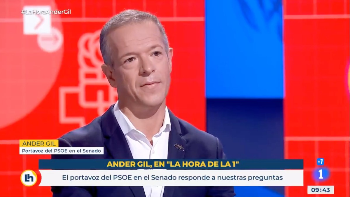 El portavoz del PSOE en el Senado, Ander Gil. (Vídeo: TVE)
