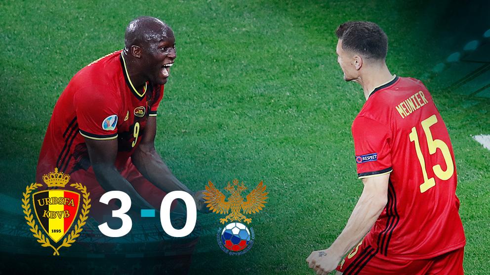 Bélgica se impuso a Rusia con un doblete de Lukaku.