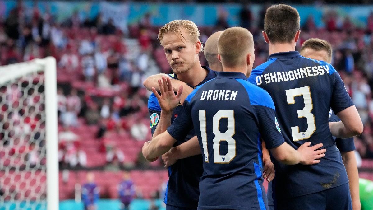Pohjanpalo celebra su gol ante Dinamarca. (Getty)