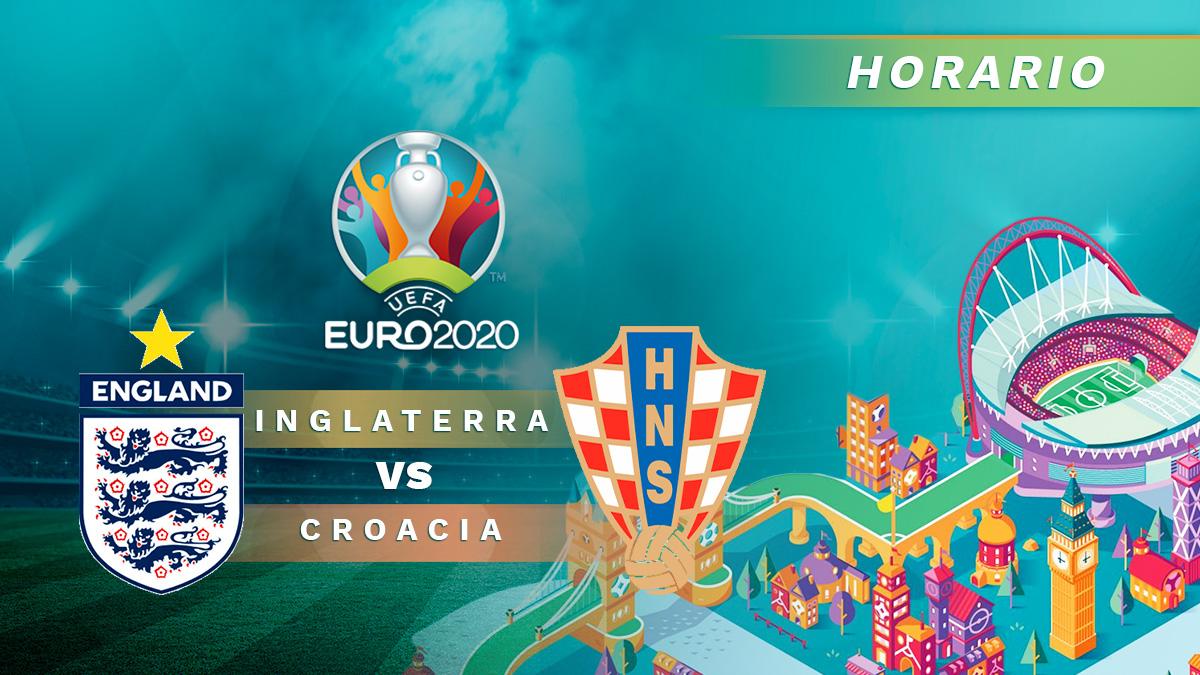 Eurocopa 2020: Horario y dónde ver por televisión el Inglaterra – Croacia de la Eurocopa.