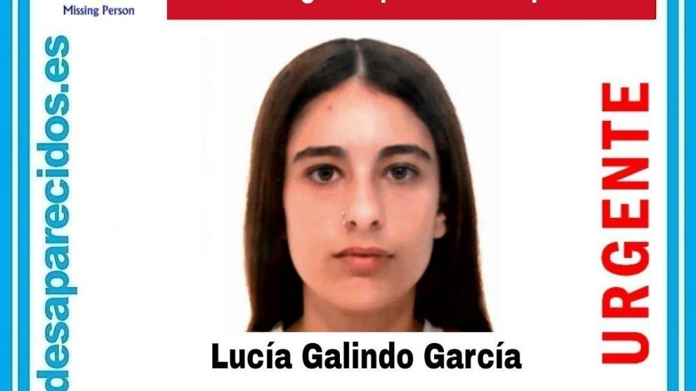 Lucía Galindo García, desaparecida en Roquetas de Mar.