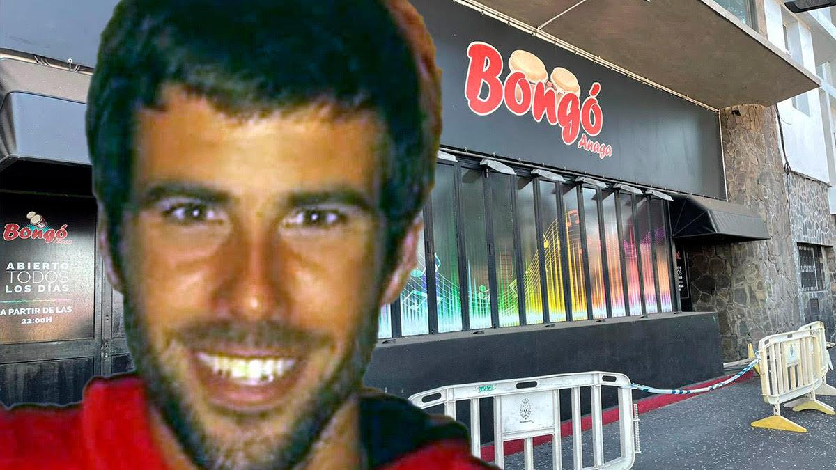 Tomás Gimeno con el local Bongó detrás.