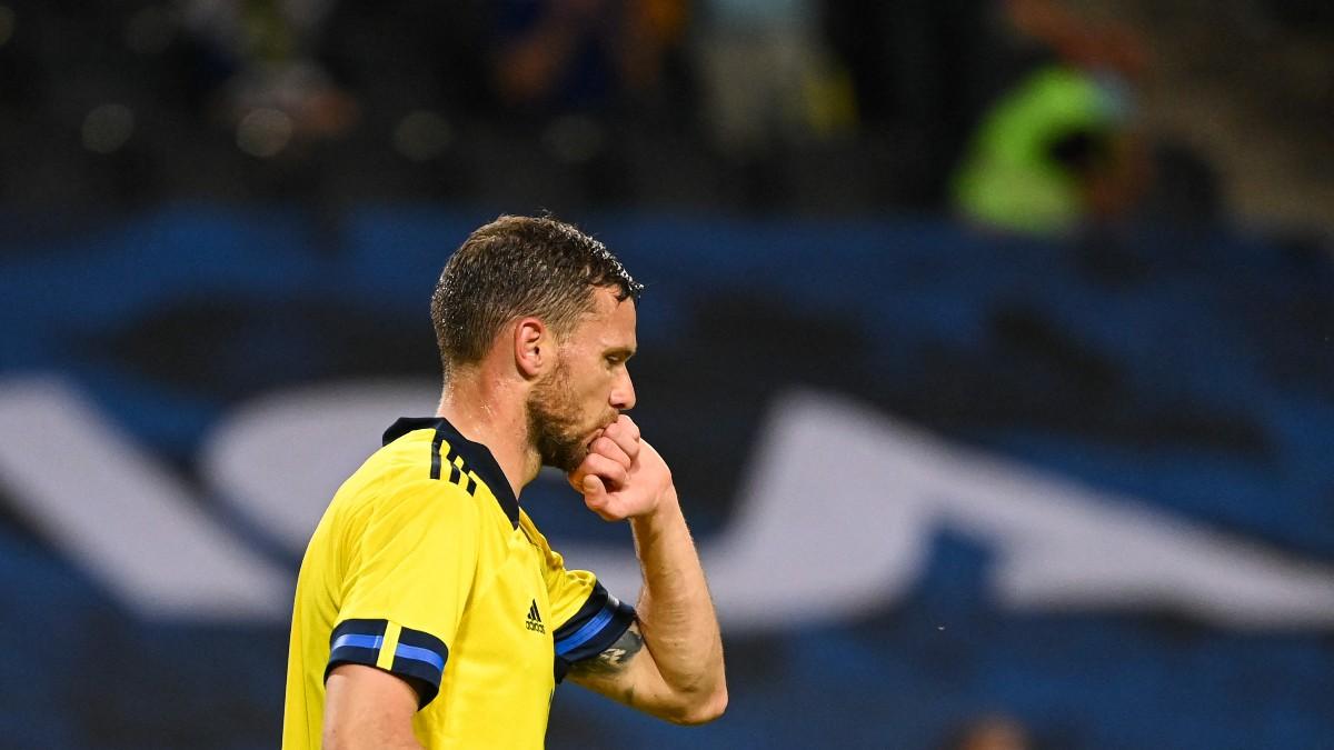 Berg, durante un partido de Suecia. (AFP)