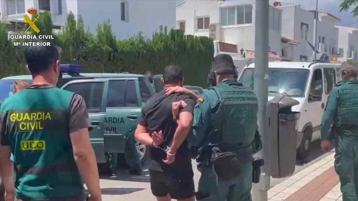 Detenido en Málaga un líder del crimen organizado holandés buscado por matar por error a un DJ (GUARDIA CIVIL).