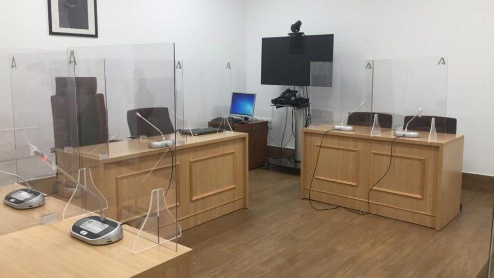 Sala de vistas de un juzgado en una imagen de archivo.