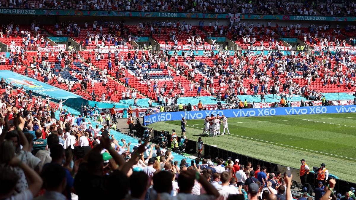 Inglaterra venció a Croacia en Wembley. (Getty)