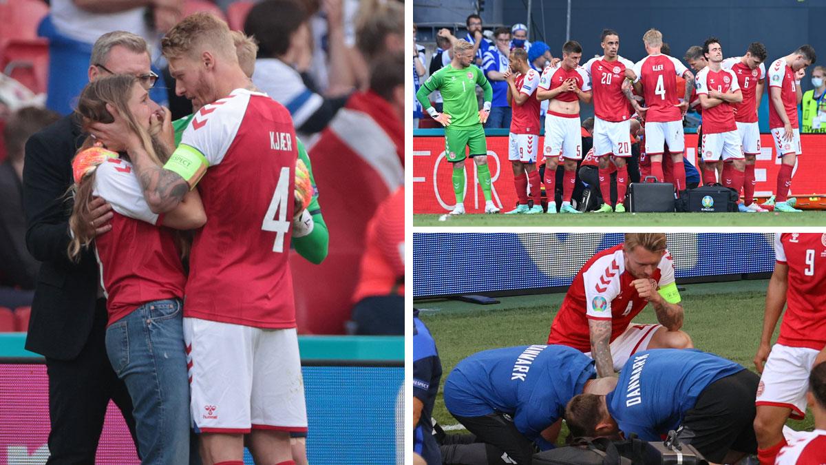 Kjaer, capitán de la selección danesa (Getty/ AFP)