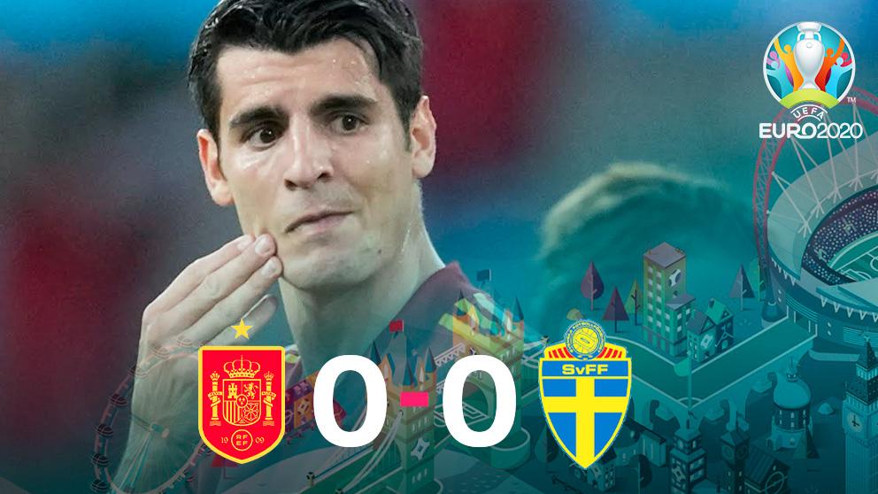 España empató a cero ante Suecia en su debut en la Eurocopa.