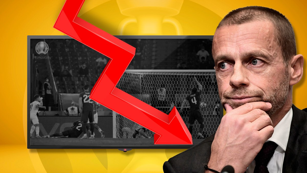 La audiencia de la Eurocopa no está siendo la esperada.
